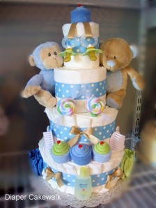 diaper cake for twins